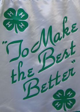 4 h to make the best better hmmmmm i believe this banner hangs