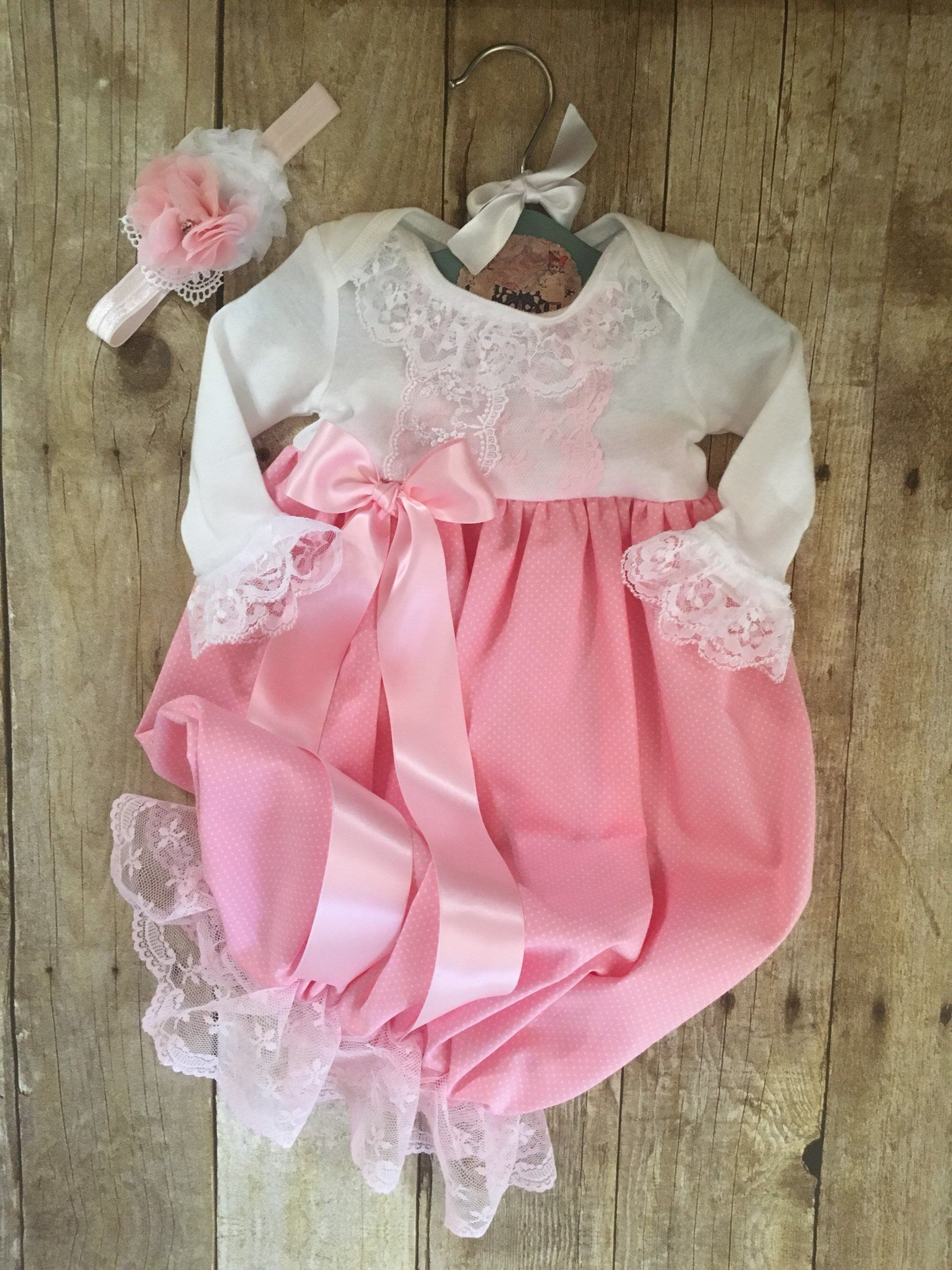 4 PIECES Newborn Girl Going Home Outfit. Preemie  Baby Girl Homecoming Outfit Premature Baby dress Butterfly baby drees