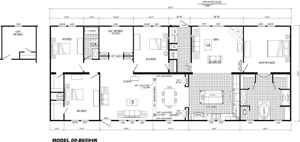 modular home floor plans 4 bedrooms   Bedroom Floor Plan  B 6594   Hawks. modular home floor plans 4 bedrooms   Bedroom Floor Plan  B 6594