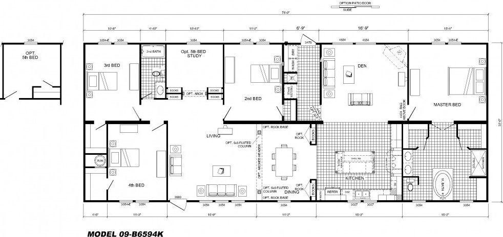 4 bedroom modular home floor plans