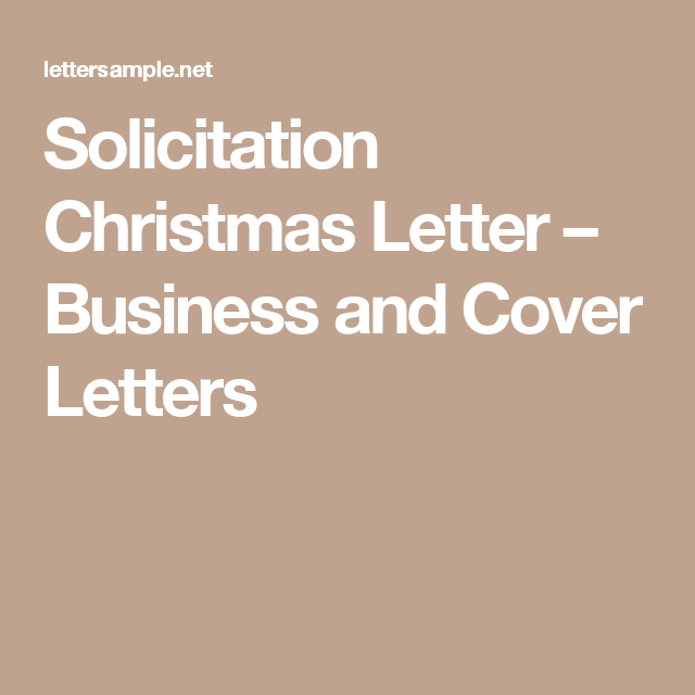 Solicitation christmas letter business and cover letters sample solicitation christmas letter business and cover letters spiritdancerdesigns Images
