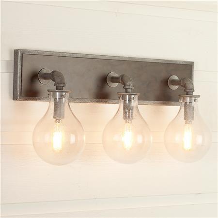 Allen Roth 3 Light Hainsbrook Bathroom Vanity Light Traditional