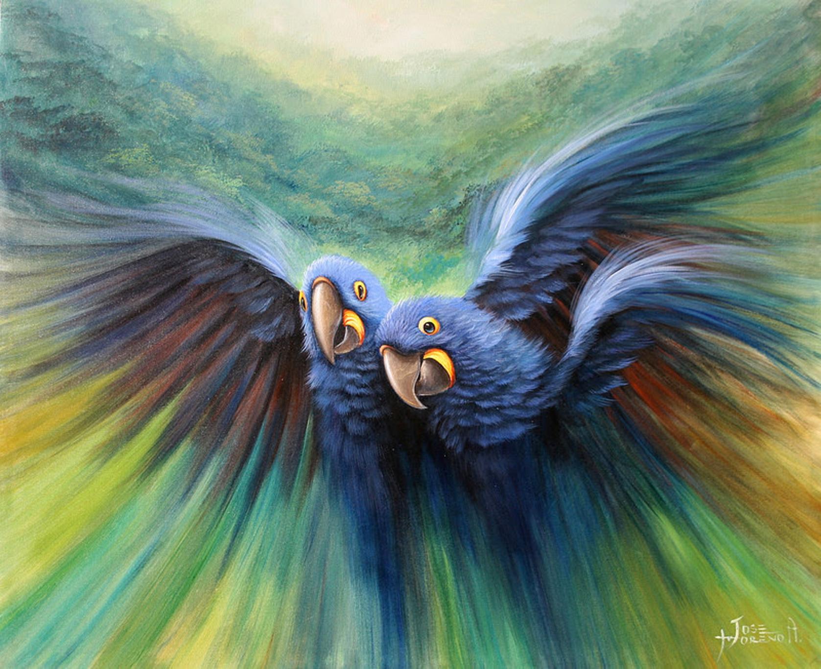 Los Amantes 117 X 110 Cm Oleo Sobre Lienzo Josemorenoaparicio Arte Art Morenoaparicio Oleo Oil Art Pintura De Pajaros Pinturas De Aves Cruces Pintadas