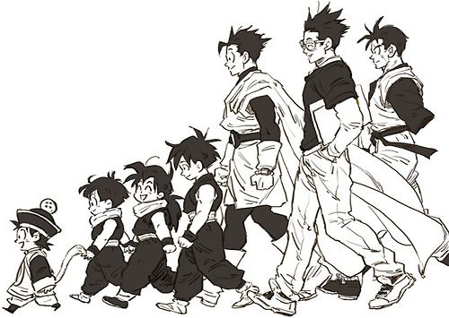 Son Gohan Timeline Fanart By Kumoriame3blog4