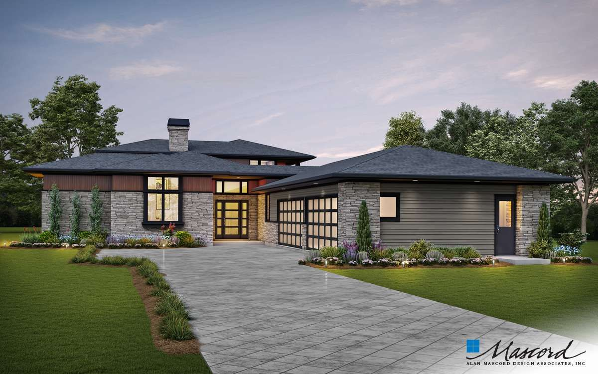 Plan 23116 The Lucas Prairie Style Houses Contemporary House Plans House Plans
