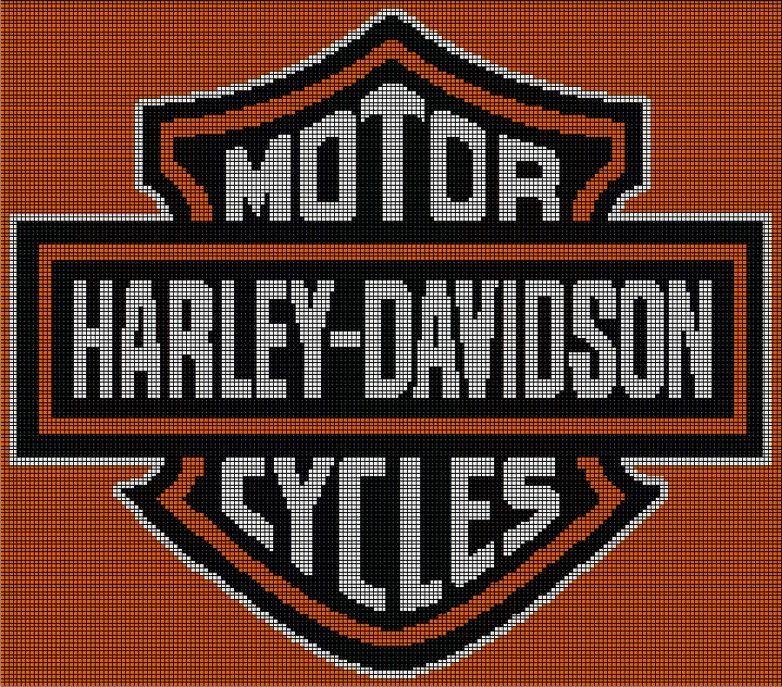 Harley Davidson Afghan Crochet Graph Pattern