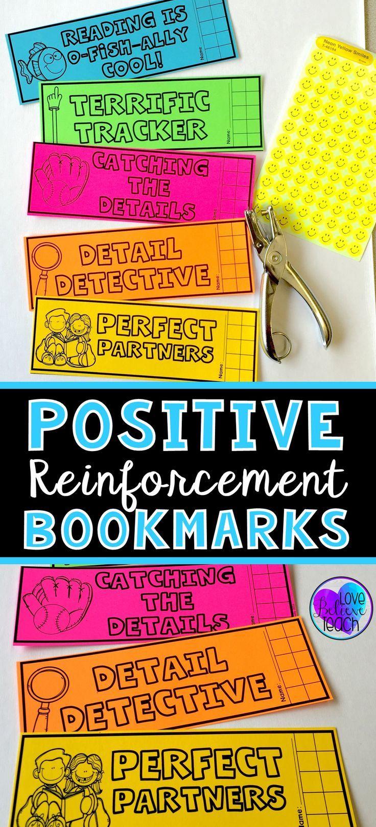 Behavior Chart Bookmarks for Independent Reading Reading