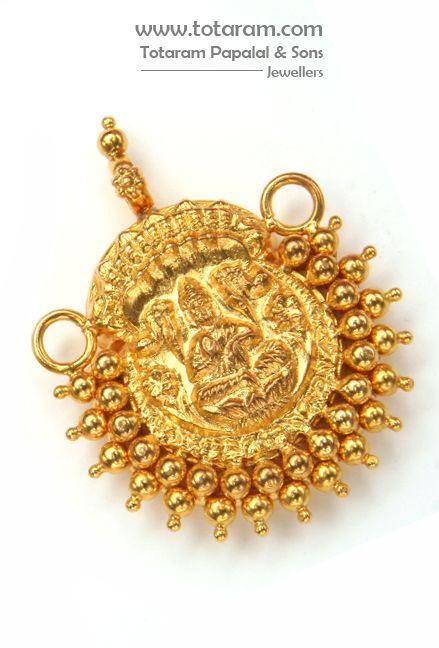 22 Karat Gold Lakshmi Nagaram Pendant jewellery Pinterest