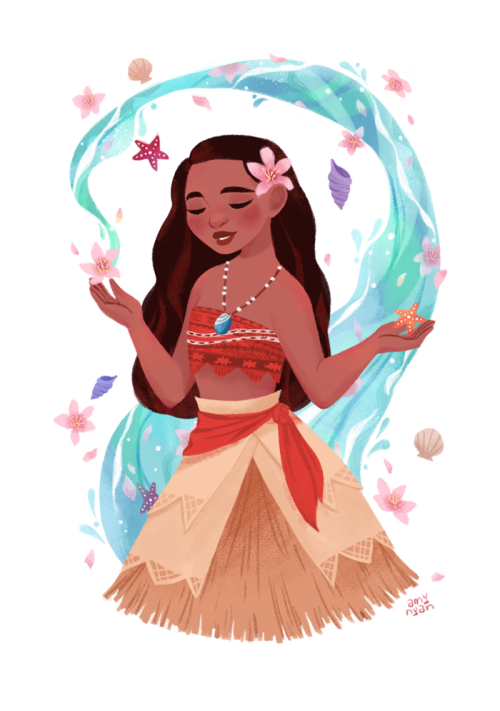 amynyanart: Moana is <3 <3 I love her so much I have to...  amynyanart:  Moana is <3 <3 I love her so much I have to draw her!!  There is no shortage of fantastic art finds on Tumblr.