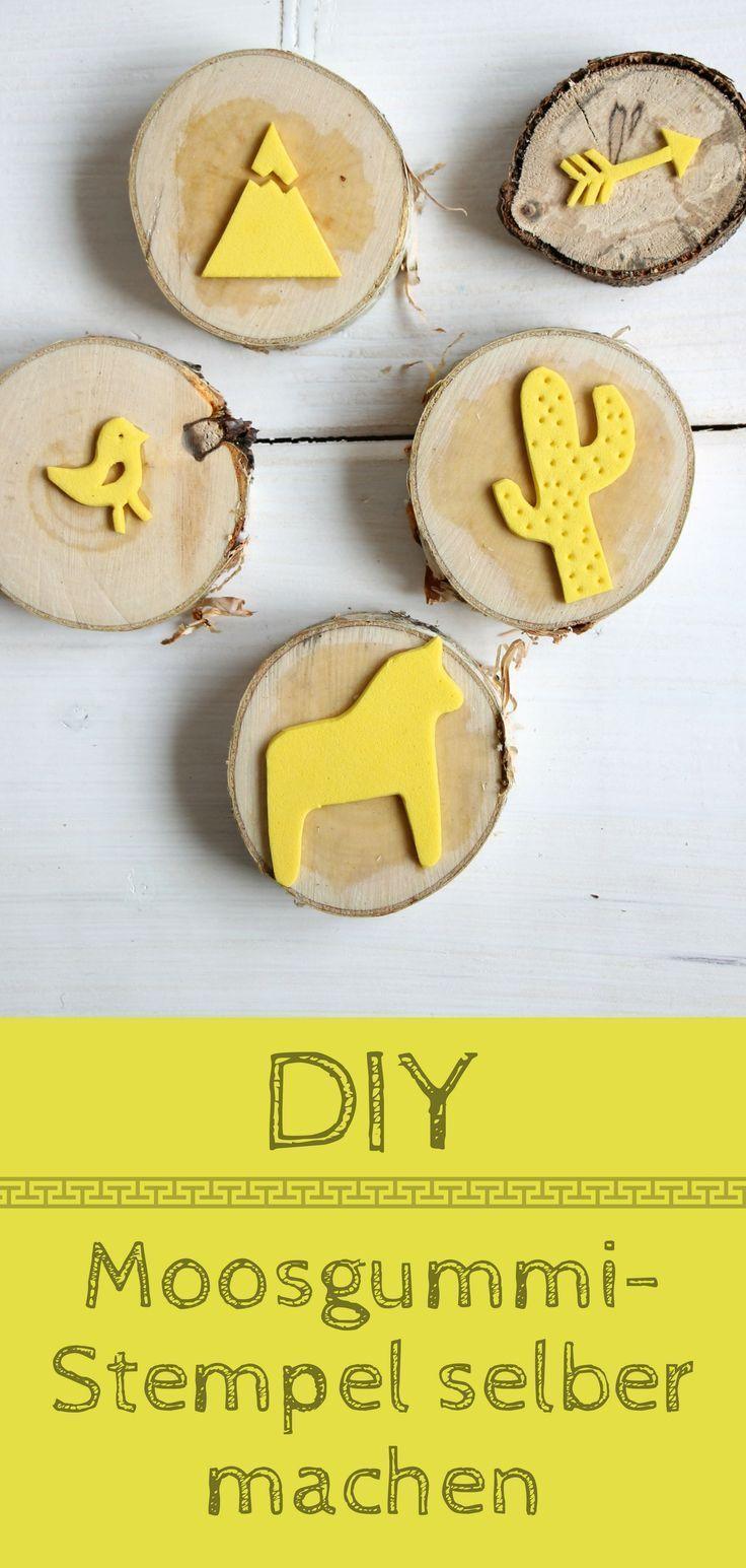 DIY: Moosgummi-Stempel selber machen und Shirts individuell bedrucken - Lavendelblog