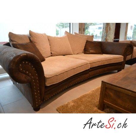 Megasofa Chalet Sofa Couch Kolonialstil 2er Sofa