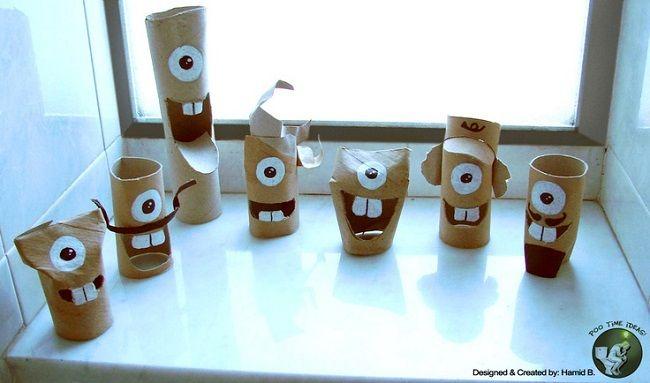 Manualidades Con Rollos De Papel Higienico 4 Craft Pinterest - Manualidades-rollos-papel