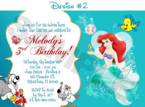 Princess ariel mermaid birthday party photo invitations printable princess ariel mermaid birthday party photo invitations printable filmwisefo Gallery