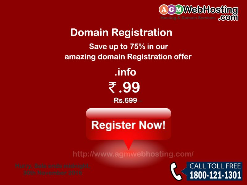 Amazing Domain Registration Offer Just Rs99 Save Upto 75 In Our