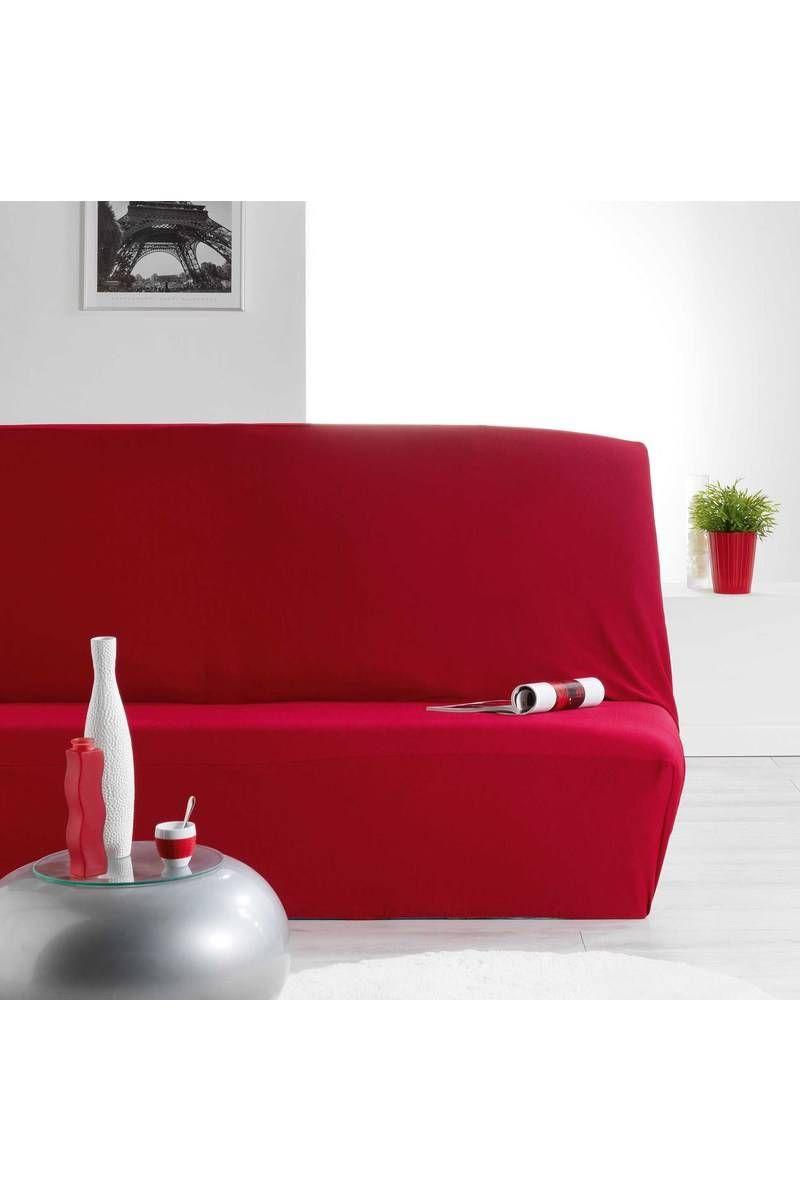 Housse canap/é clic-clac Rouge 140x200cm