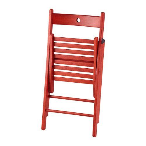 Ikea Sedie Pieghevoli Legno.Terje Sedia Pieghevole Rosso Sedie Pieghevoli Ikea E Idee Ikea