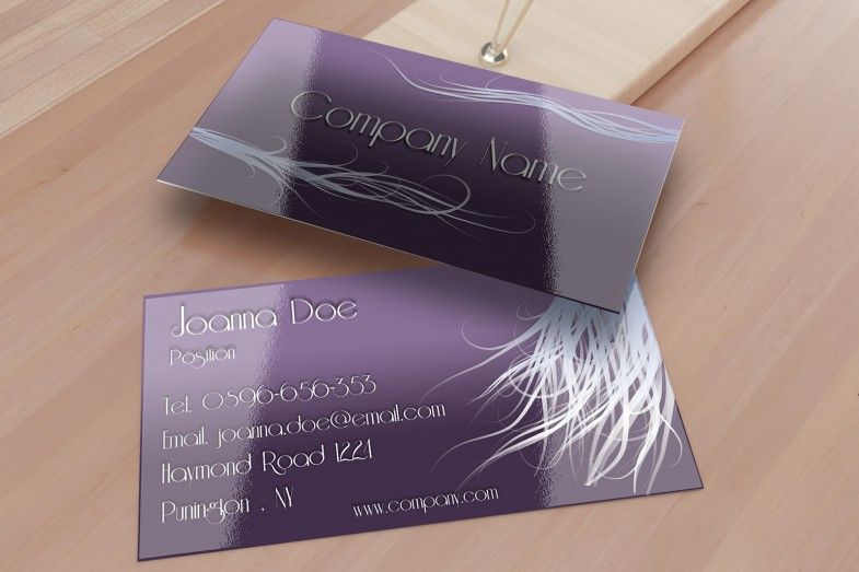 Elegant Purple Hair Stylist Business Card Template Available For - Hair stylist business card template