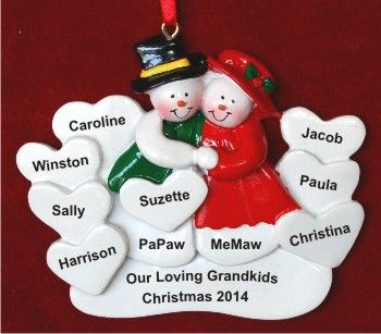 Surrounded by Love 8 Grandkids Personalized Christmas Ornament