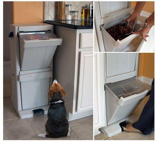 Wonderful Dog Food Storage Bin Pet Food Garage KitchenTower Organizer Bird Cat  Containers