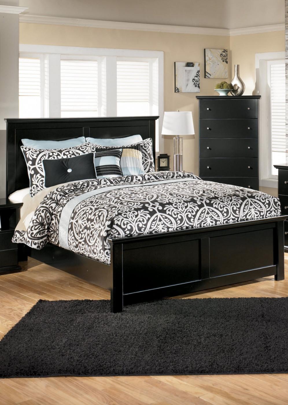 Black Dark Home Decor ideas Furniture, Master bedroom