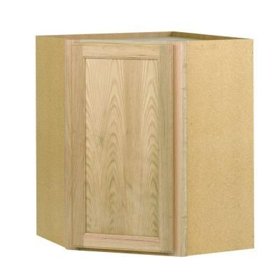 24x30x24 In Corner Wall Cabinet In Unfinished Oak Cw2430ohd The Home Depot Wall Cabinet Corner Wall Corner Furniture