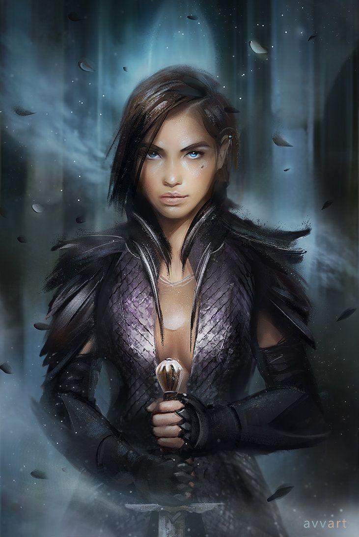 Ice by on deviantart female - Fantasy female warrior artwork ...