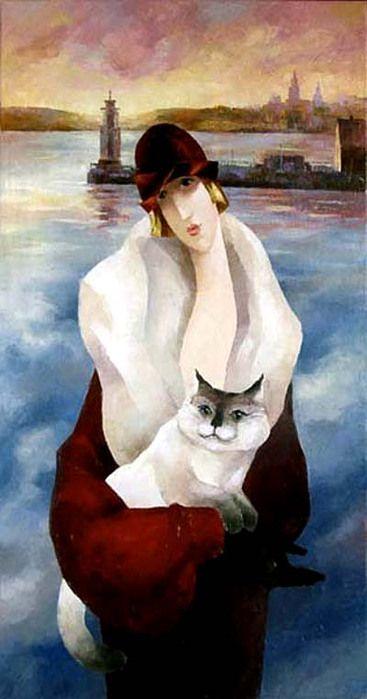 Artodyssey Zoe Chernakova Art Cat Art Illustration Art