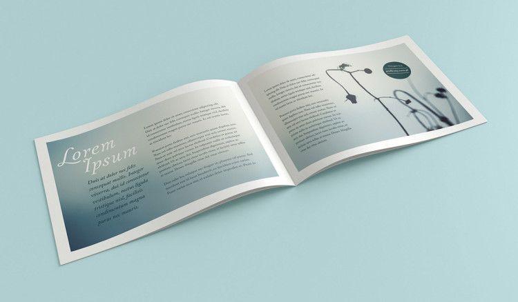 Landscape brochure mockup Free PSD Mockup Templates Pinterest