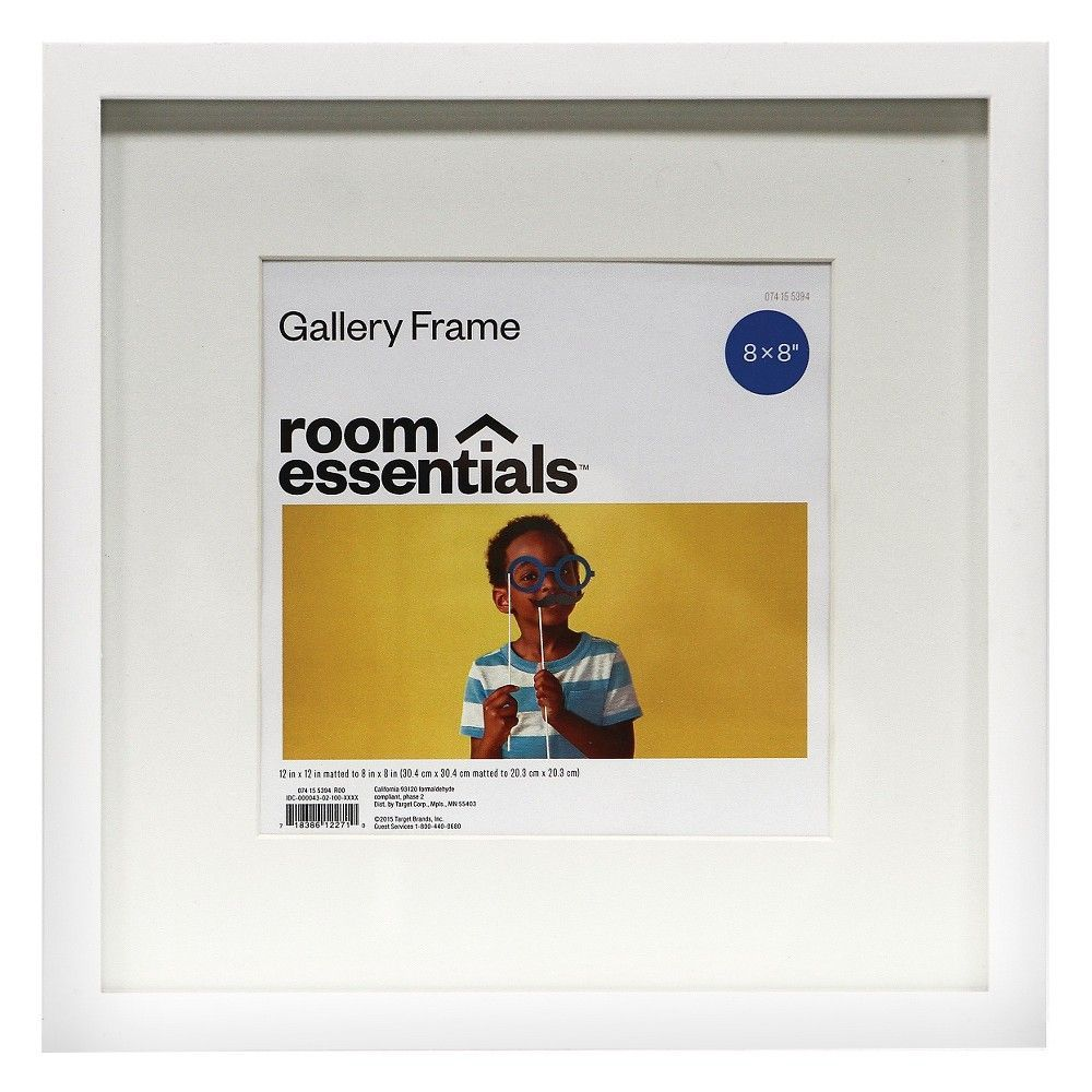 Frame - White - 12x12 Matted for 8x8 Photo - Room Essentials | Products