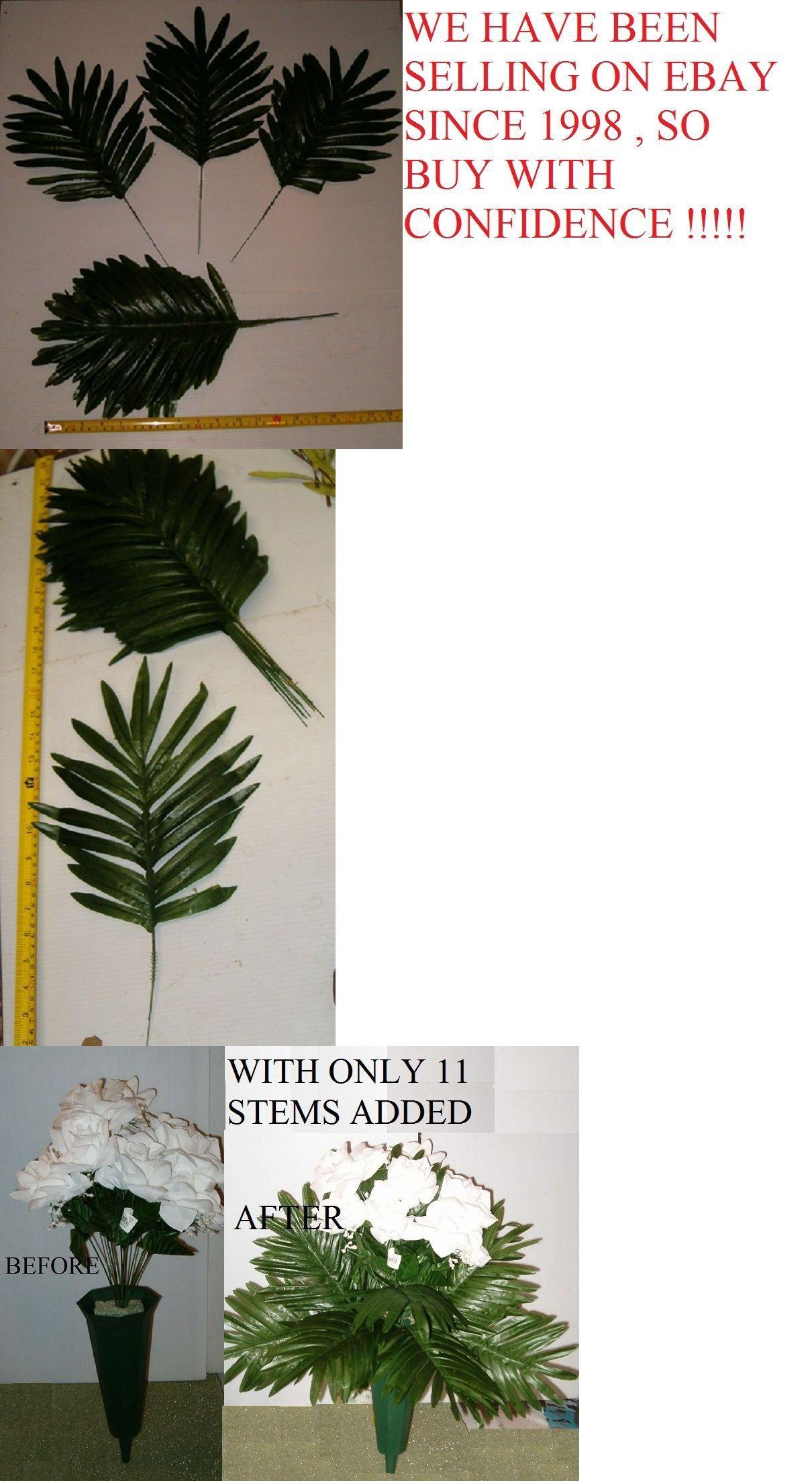 Silk Flowers 16494 288 Silk Palm Fern Leaf Stems Wholesale