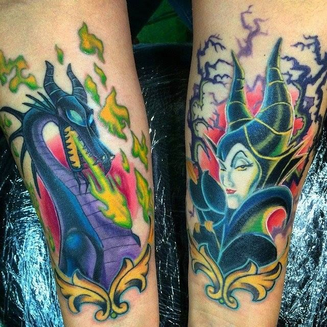 maleficent tattoo sleepingbeauty geek ink maleficent
