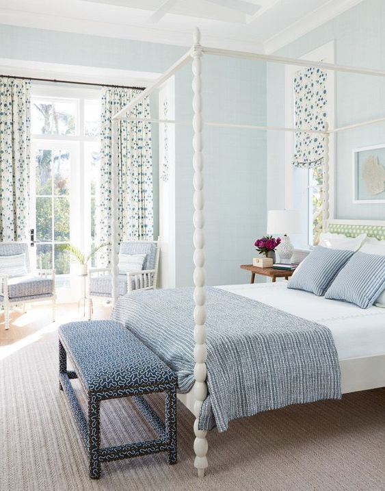 25+ Most Stunning Soft Blue Master Bedroom Ideas with Modern Vibe images