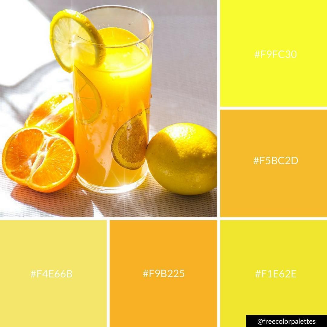 Fresh Juice Orange Juice Lemon Bright Yellow Color