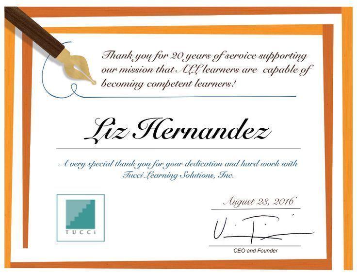 Liz Hernandez's 20th Anniversary at Tucci Learning Solutions Inc #20thanniversarywedding