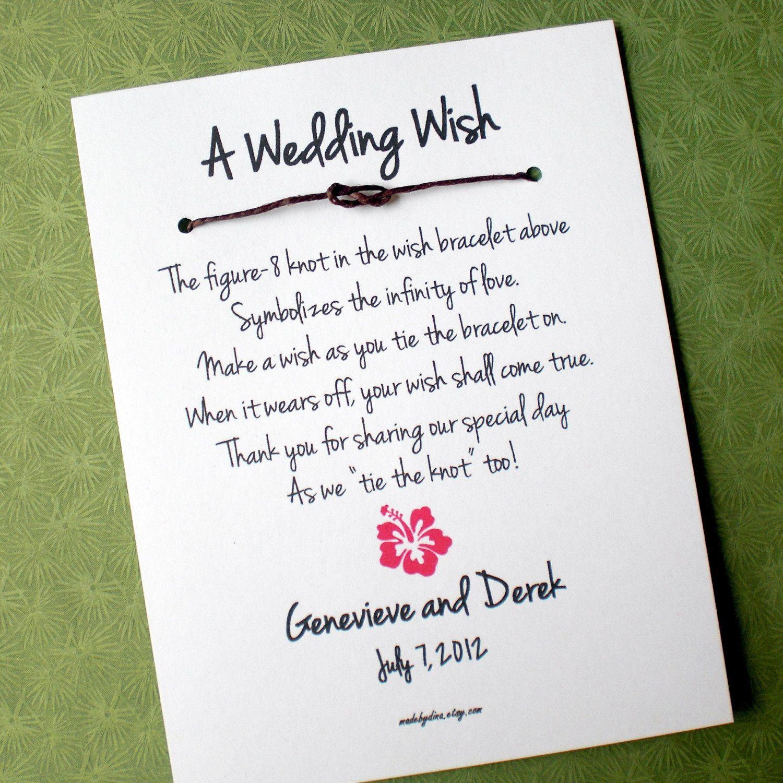 Hawaii Island A Wedding Wish Infinity Love Knot Wish