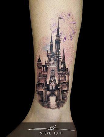 disney castle tattoo d s i pinterest. Black Bedroom Furniture Sets. Home Design Ideas