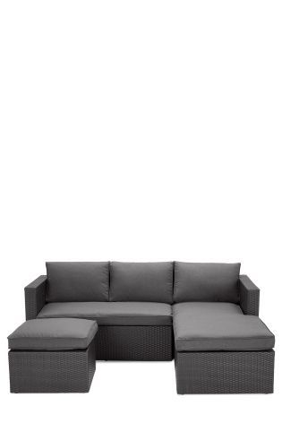palermo rattan effect corner sofa set cover sleeper seattle wa buy grey right hand from the next uk online shop