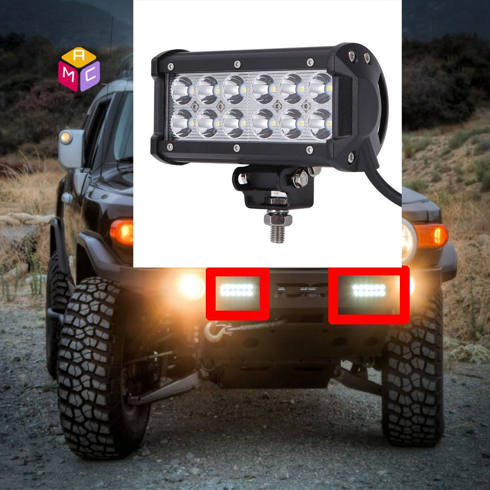 6\'\' LED Light Bar Side X Side Yamaha Rhino Viking VI Grizzly SXS ...