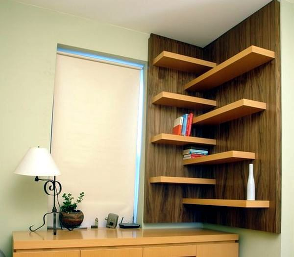 projects idea of corner wall shelving. Designs for your self made corner shelf  space saving ideas the home Projects to try Pinterest Corner Shelves and