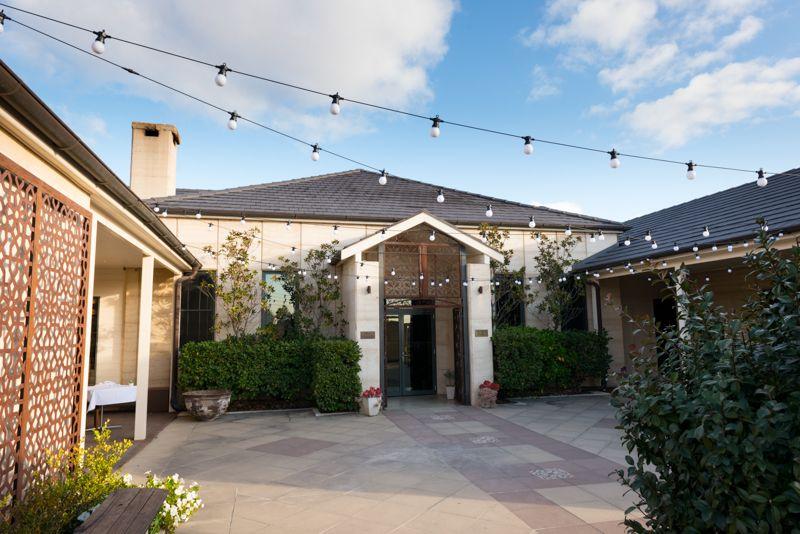 The Courtyard at Margan Estate. Hunter Valley wedding Venue.