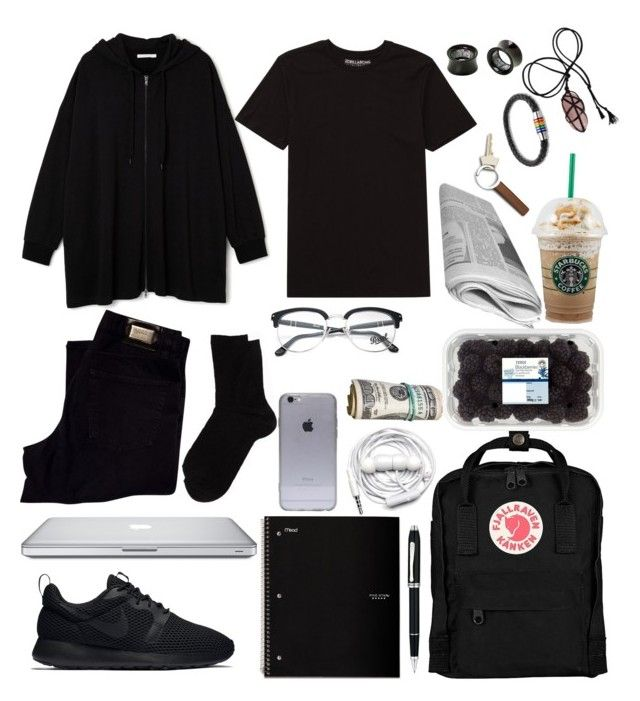 """""""Untitled #35"""" by lexhamilton ❤ liked on Polyvore featuring HUGO, Billabong, NIKE, Fjällräven, Pieces, Persol, Cross, Urbanears, Georg Jensen and Bling Jewelry"""