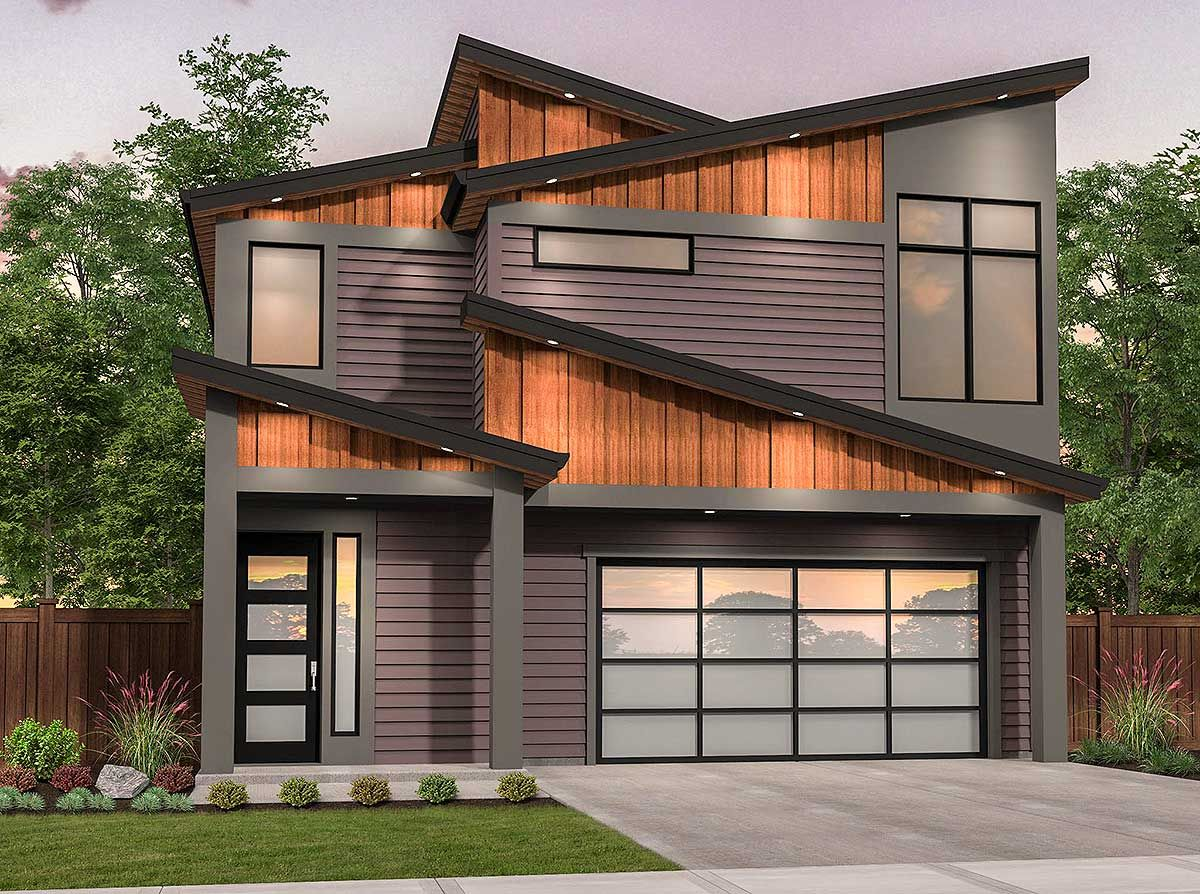 Plan 85216ms Edgy Modern House Plan With Shed Roof Design Shed Roof Design Modern Roof Design Roof Design