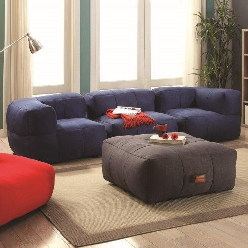 Coaster Lazy Life Bean Bag Sectional Group Fine Furniture
