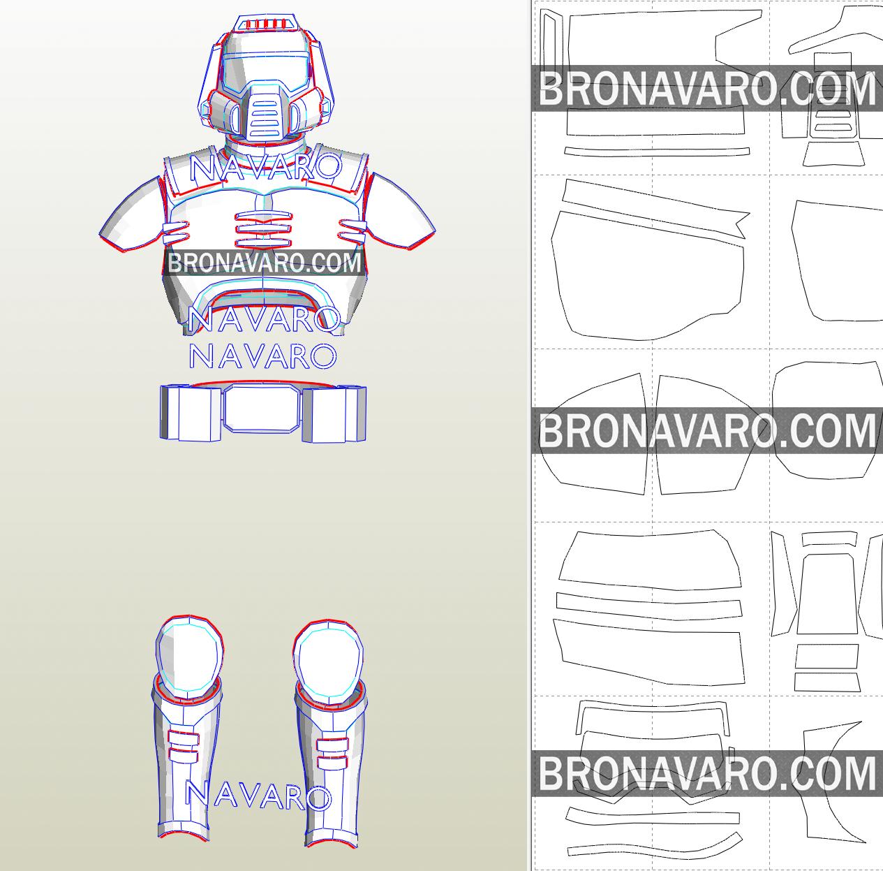 Doom Guy Classic Armor Template Doom Armor Pepakura Doomguy Cosplay Pattern Doom Guy Foam Template Templates Doom Classic Armor