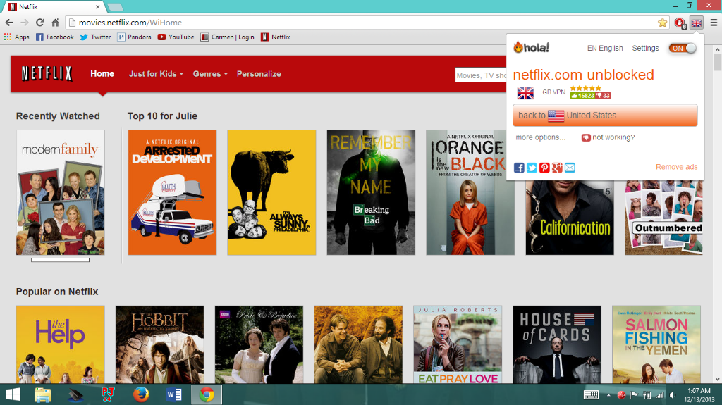 How to get British netflix (or other countries) for free through