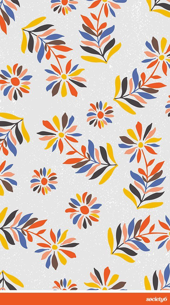 """Folk Flowers II"" Art Print by Cristina Jucan on Society6 | Society6 thumbnail"