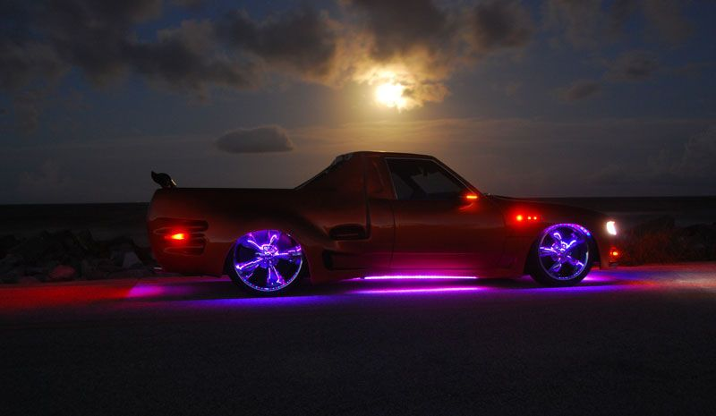 Neon cars streetglow 3 million color led underglow kit with wireless remote cars low riders - Underglow neon ...