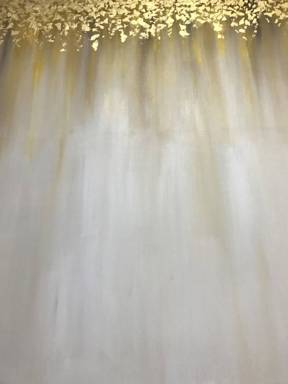 Large Abstract Oil Painting Gold Leaf Painting THIS PAINTING IS SOLD. Your painting will be create very similar in same style, color and size.After you ordered I will start to create your painting directly.I will finish it in only 4-6 DAYS . Signature front and back. DETAILS *