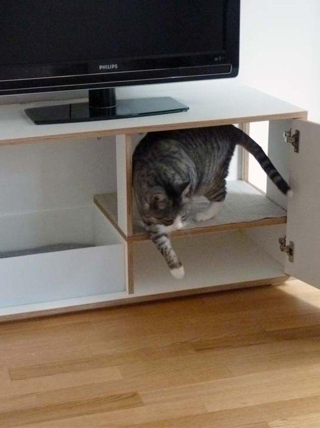 Katze: Kratzartikel - HUSH HUSH – das stille Örtchen kann auch nobel - ein Designerstück von Julinka-pets bei DaWanda