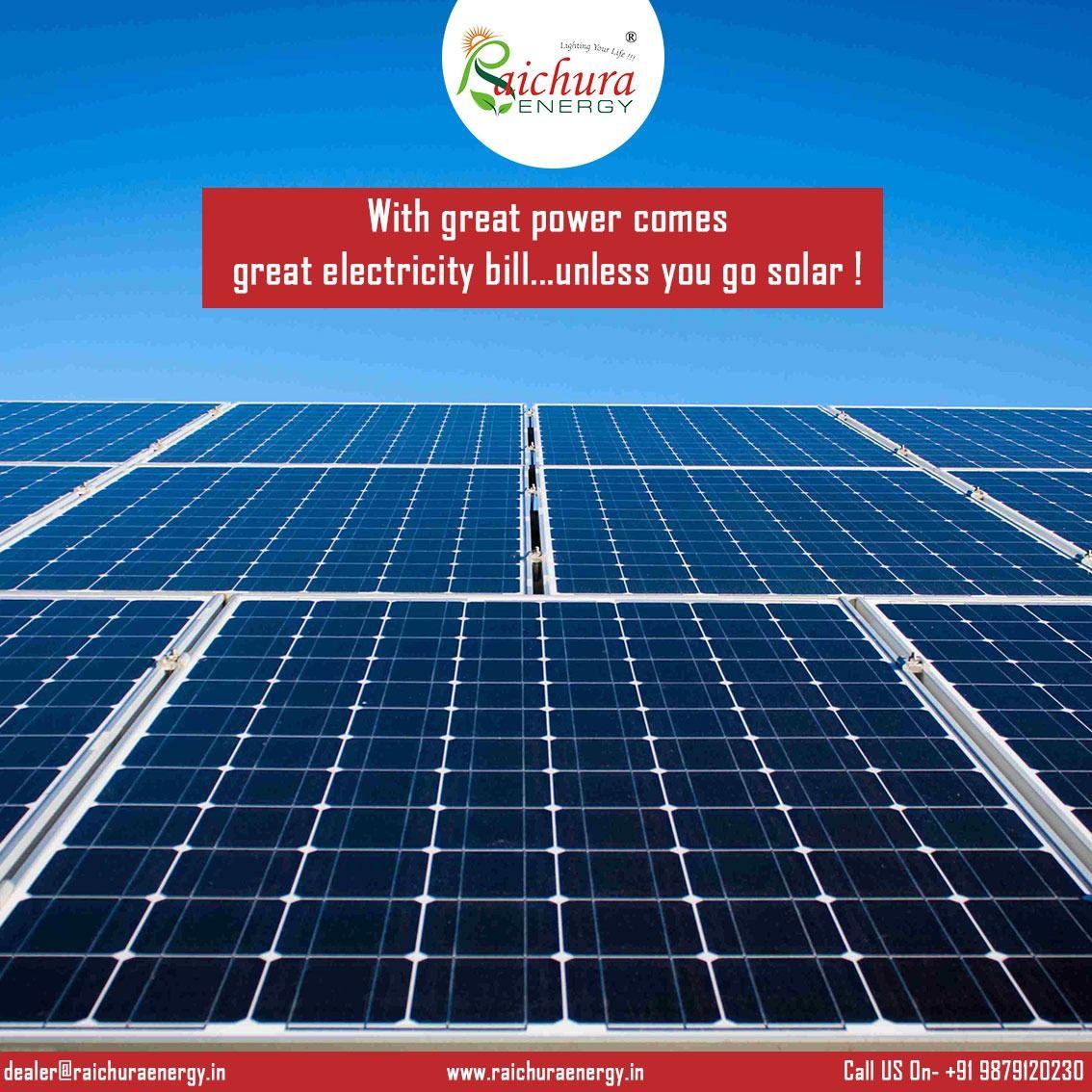 Home Main Solar power, Electricity bill